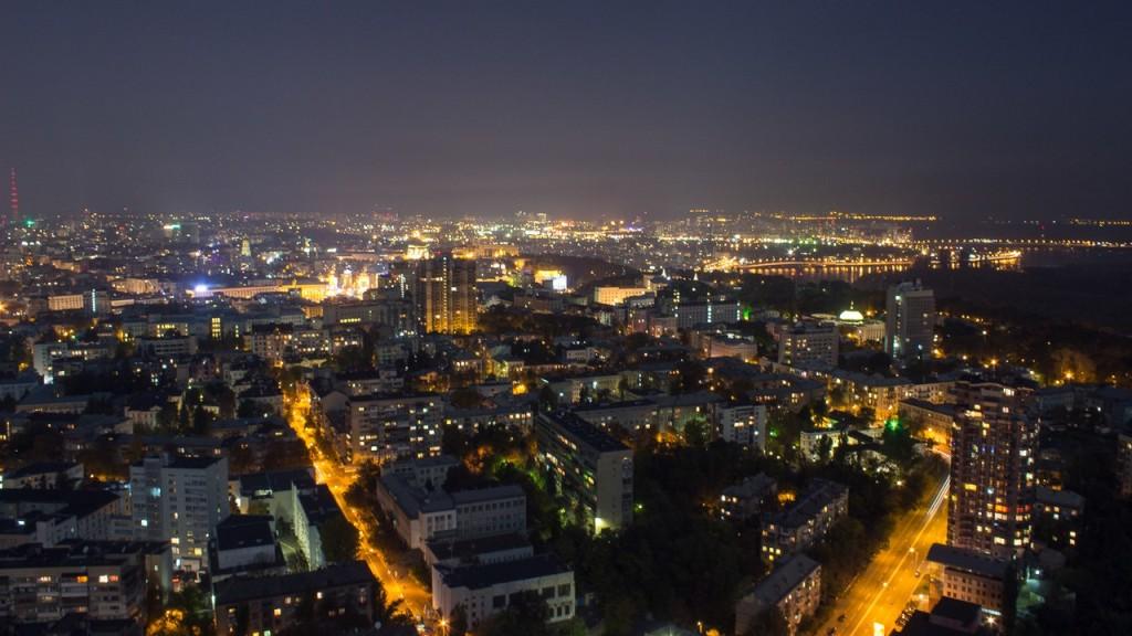 Вид с самого высокого здания Украины в Киеве
