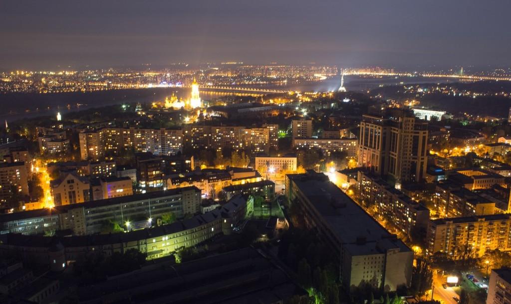 Вид с самого высокого здания Украины