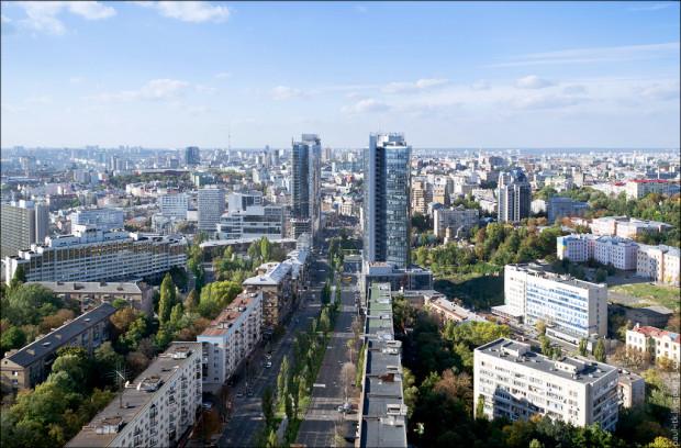 Киев фото с высоты