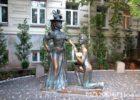 "Памятник ""За двумя зайцами"" Киев"