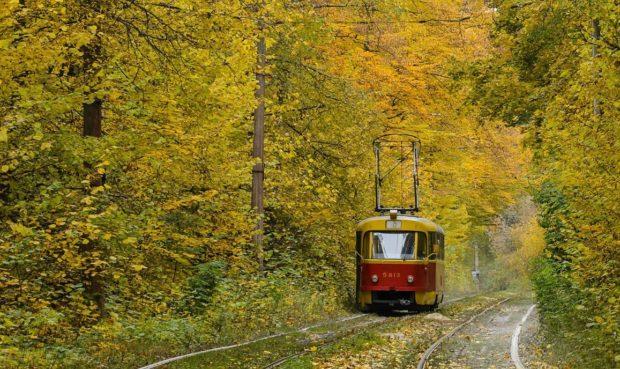 Пуща-Водица Киев, трамвай 12