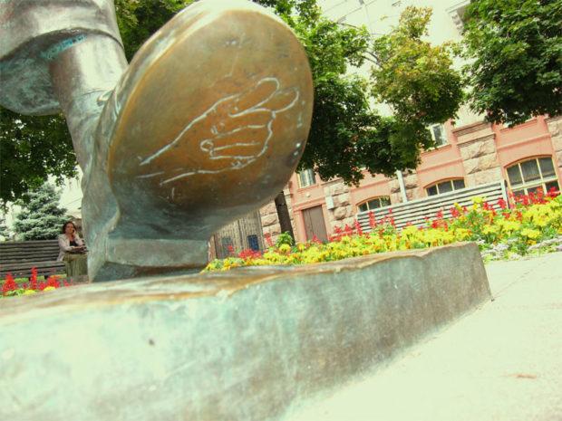 ботинок статуи Паниковскому, Киев