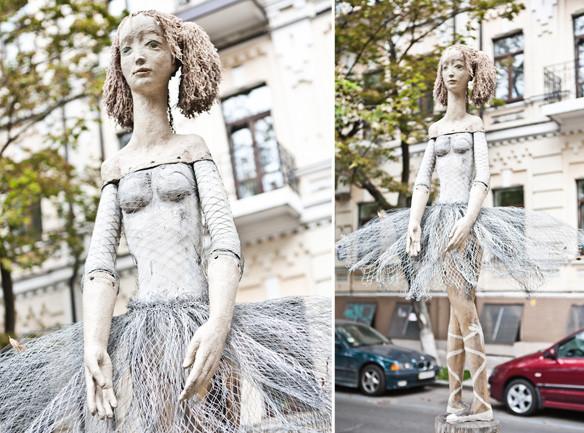 Скульптура балерины Киев