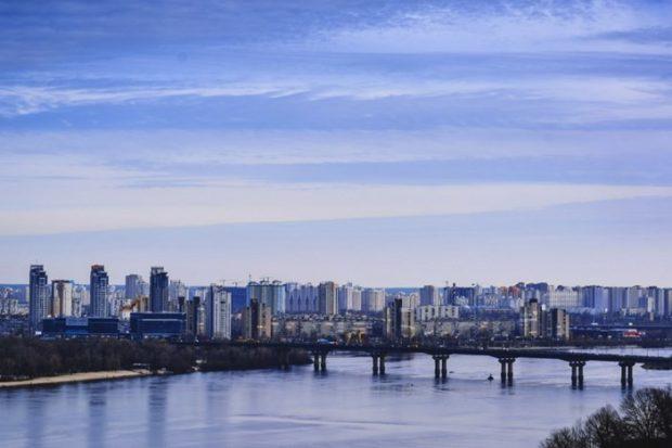 Киев, река Днепр, мост