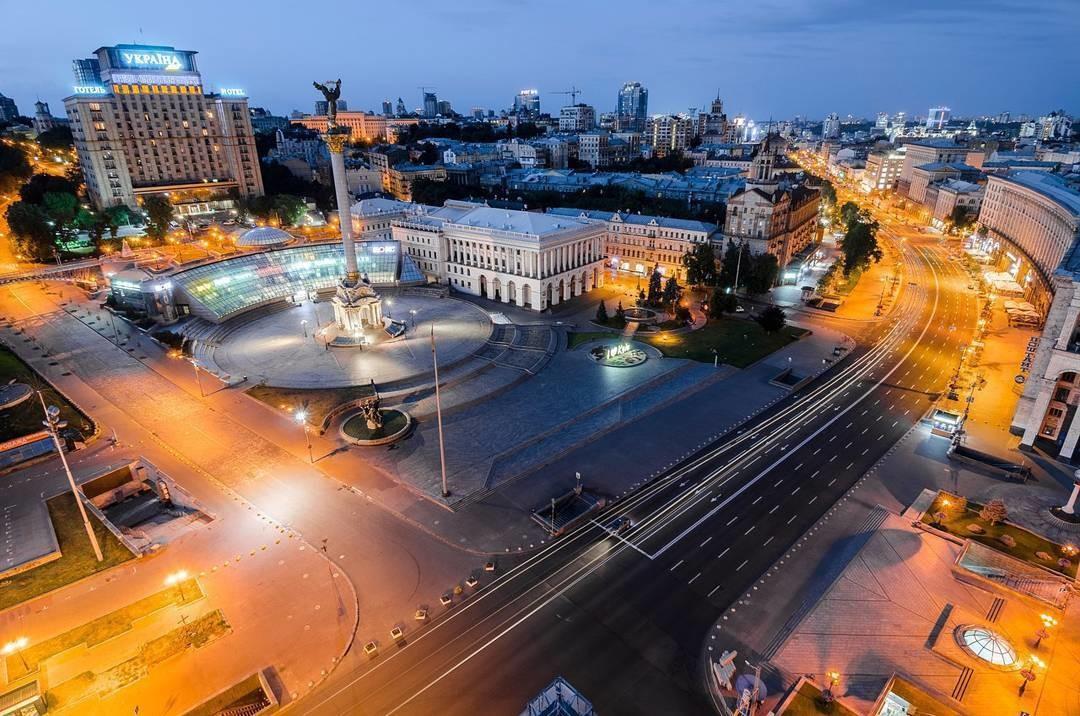 Киев, Крещатик с высоты, фото
