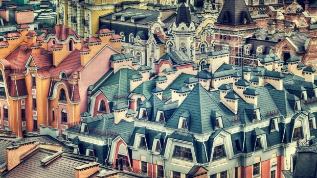 Крыши в районе Воздвиженки