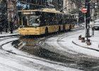 В Киеве выпал первый снег: на улицах работает спецтехника