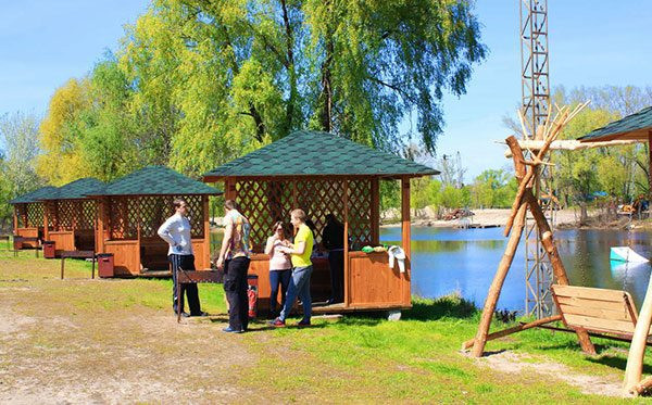 """беседки в парке """"Муромец"""", Киев"""
