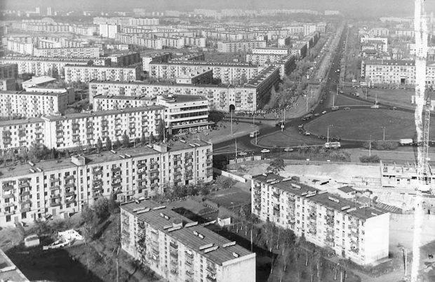 Хрущевки на Лениградской площади, ретро-фото
