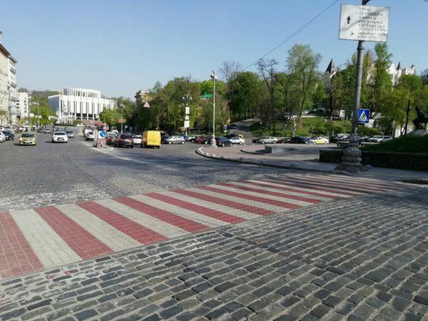 «Киевавтодор» начал обустройство и восстановление дорожной разметки