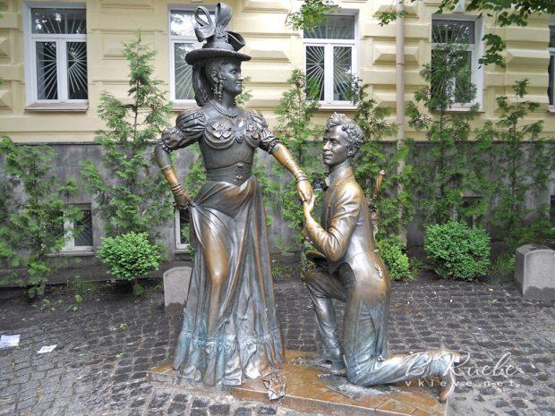 Памятник Проне Прокоповне и Голохвастову, Киев
