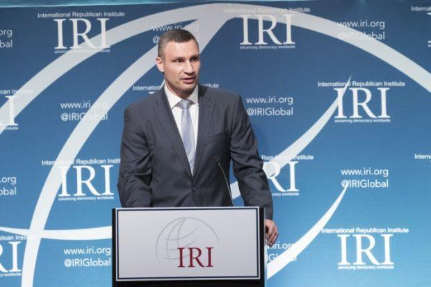 Виталий Кличко в Вашингтоне выступил на торжественном вечере памяти Джона Маккейна