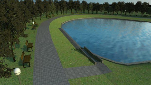 В парке «Отрадный» продолжается расчистка и благоустройство озера