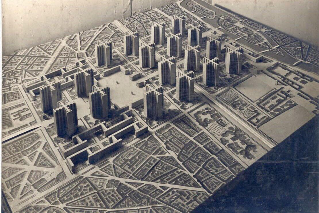 """План Вуазен"" 1925г. Таким Париж мог бы быть сейчас"