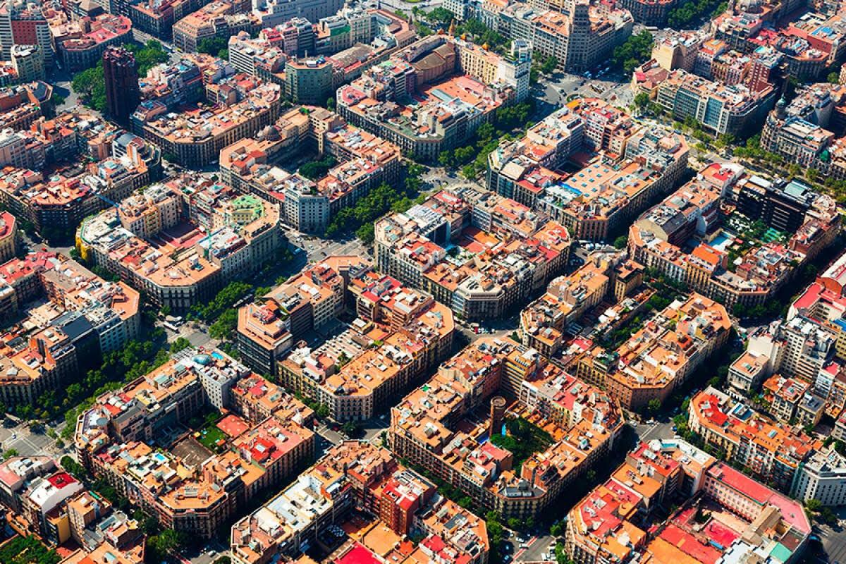 Квартальная застройка в Барселоне.