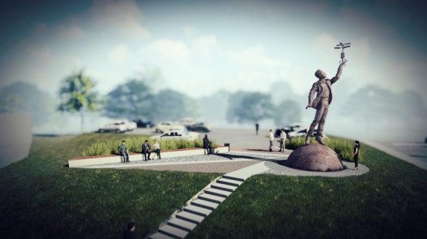 Виталий Кличко показал, каким будет памятник Сикорскому в Киеве