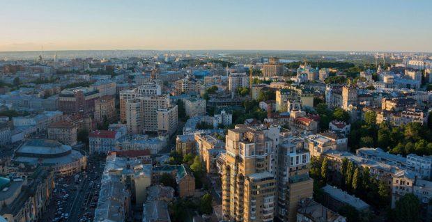 вид с крыши Гулливер Киев