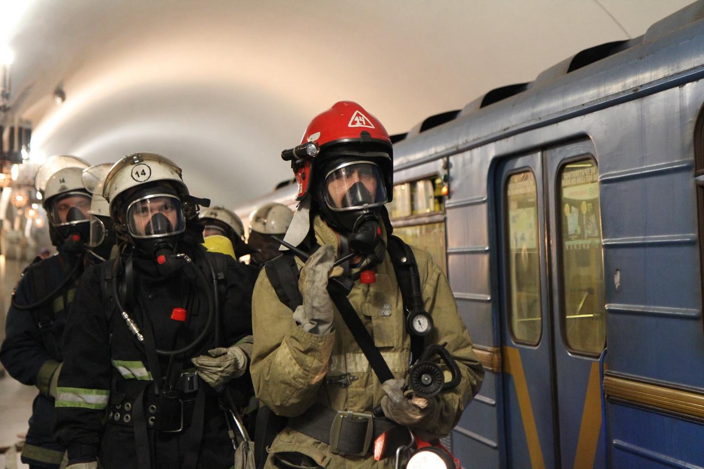 Учения в метро