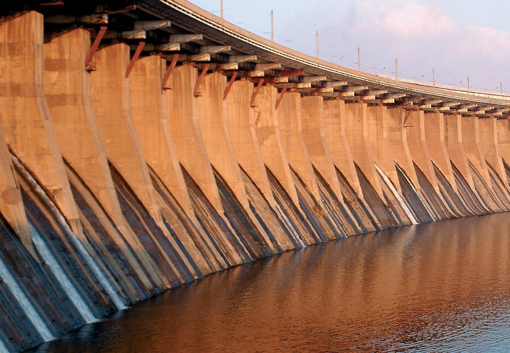 Дамба Киевской ГЭС Киев