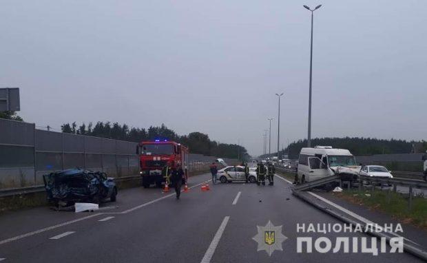 На Киевщине за сутки в результате ДТП погибли четыре человека
