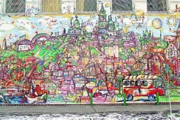 Панорама Киева на Оболони