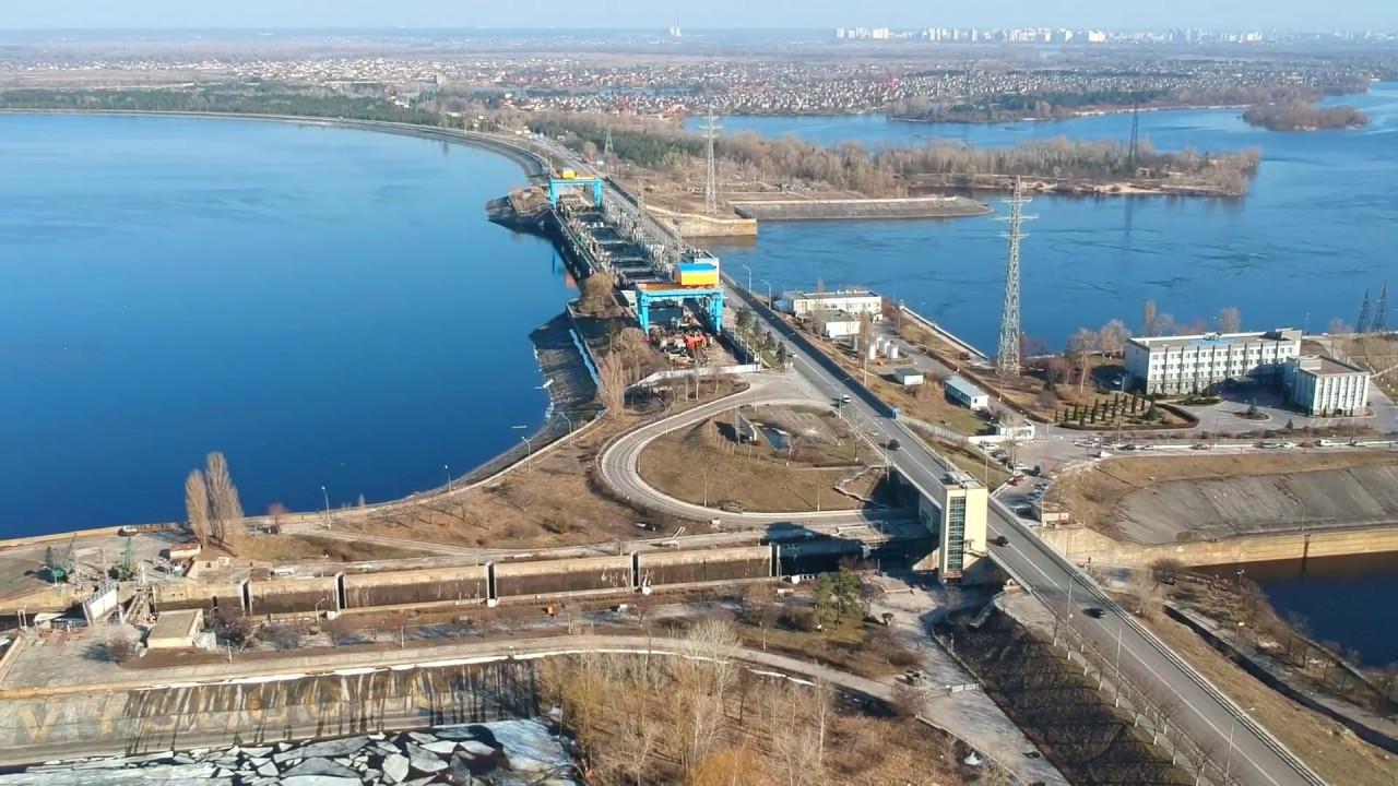 Киевская ГЭС с высоты Киев