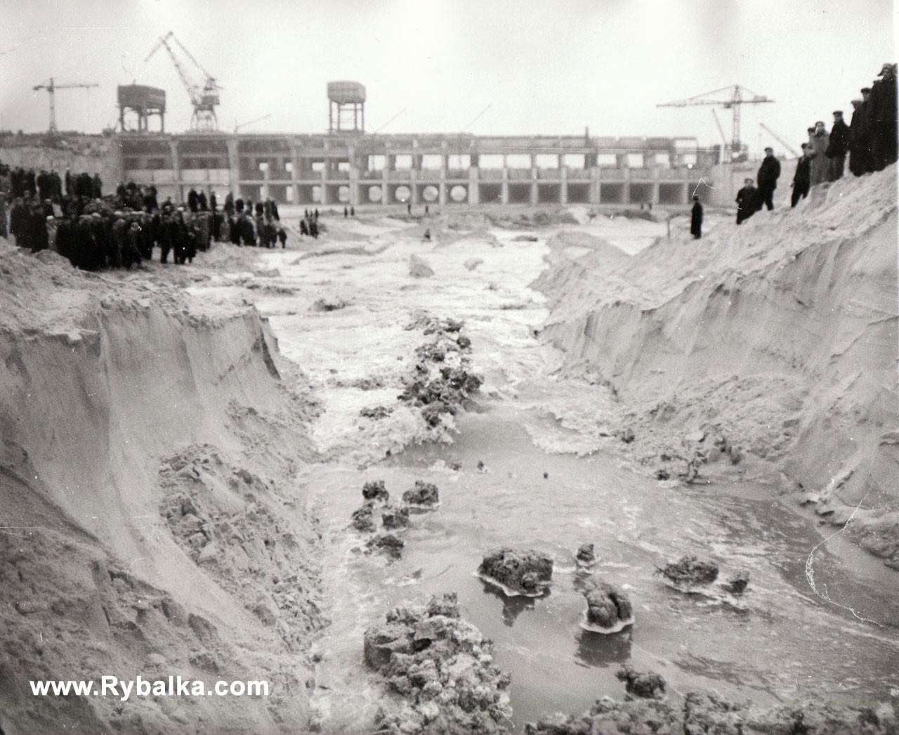 Строительство Киевской ГЭС Киев