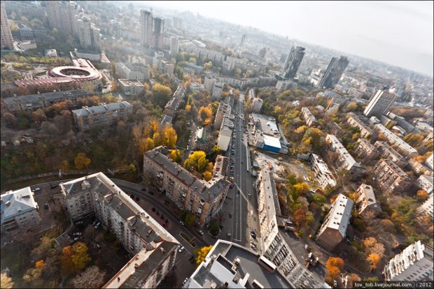 вид с Кловского Киев