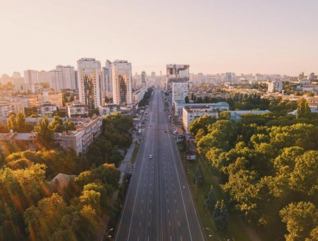 вид с Министерства Киев