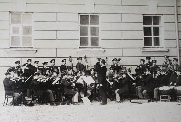 Гимназический оркестр Первой Киевской гимназии во время репетиции