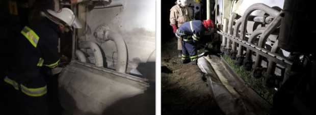 На трассе под Киевом перевернулся бензовоз