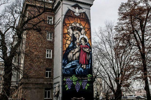 "Мурал ""Дева Мария"""