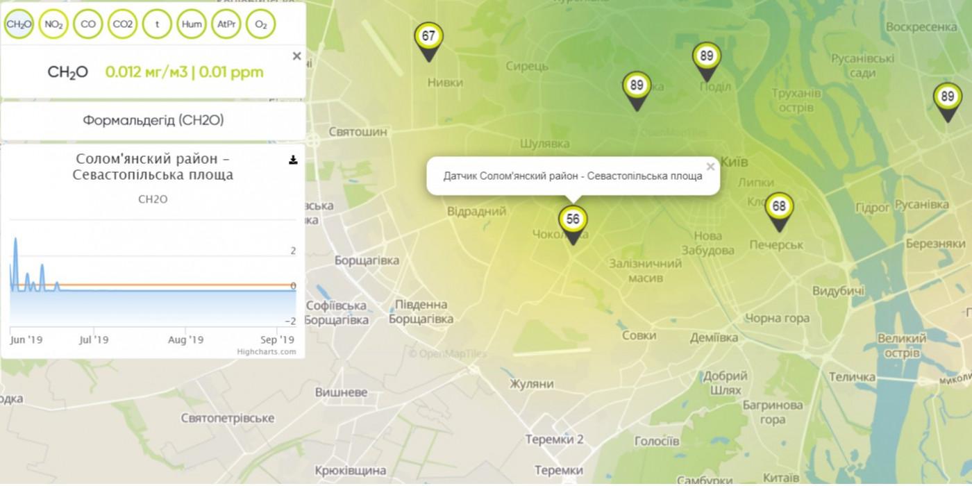 Интерактивная карта Киев