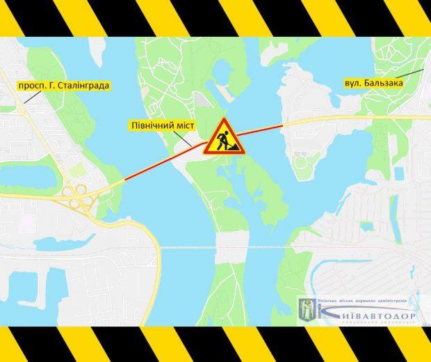 7 и 9 октября на Северном мосту частично ограничат движение транспорта
