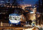 Фуникулер ночью, Киев