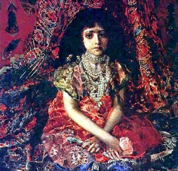 М. Врубель. Девочка на фоне персидского ковра
