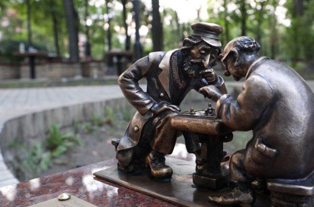 "Мини-скульптура ""Киевские шахматы"""