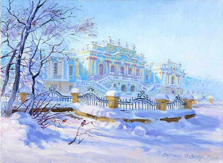рисунок петербурга зимой претендую готовое