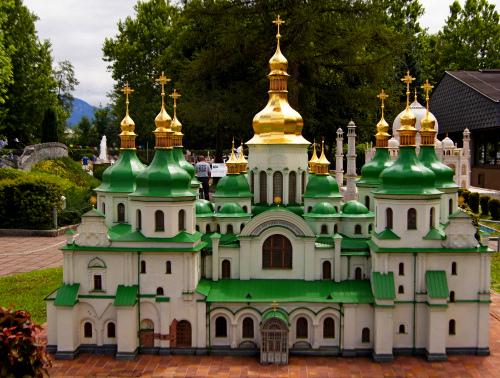 Софийский собор в австрийском парке миниатюр «Минимундус» (г. Клагенфурт)